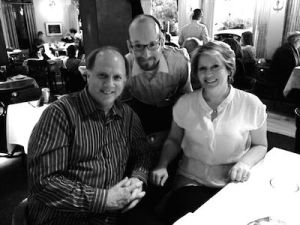 Dinner in Denver-Robert Stephenson, Alex George and Lisa Byrnes