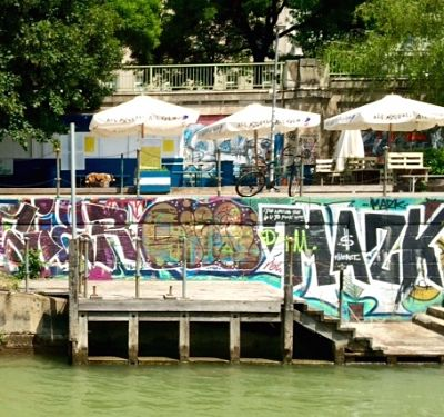 Graffiti along the Danube