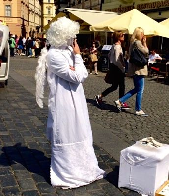 Even angels smoke in Prague!