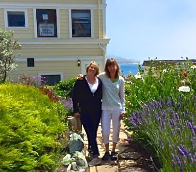 In Mendocino with Lisa and oboist Ruth Stuart Burroughs