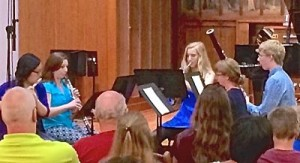 Flutist Cindy Chen and Oboist Jenna Sehmann in Sewanee Woodwind Quintet