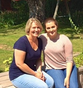 Lisa with student Jacqueline Noel
