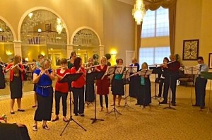 Flute choir performing for April Clayton and Chase Kimball's wedding