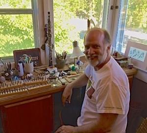 Bob in his studio